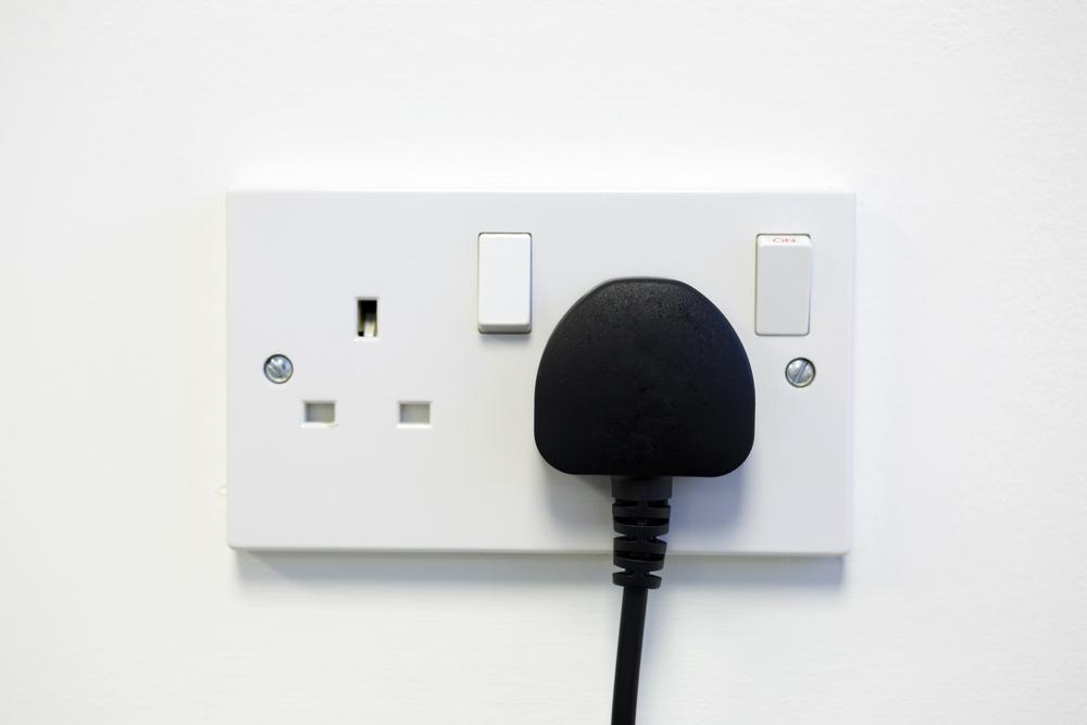 British wall double plug socket-1